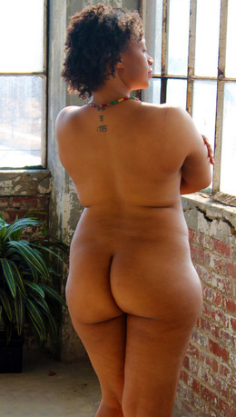 Naked, Thick ebony granny with a huge..